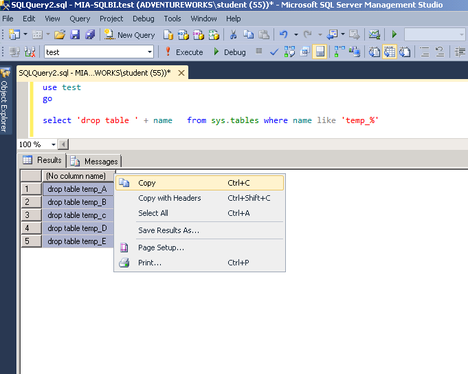 How To Drop Multiple Tables In Sql Server Sql Server Training