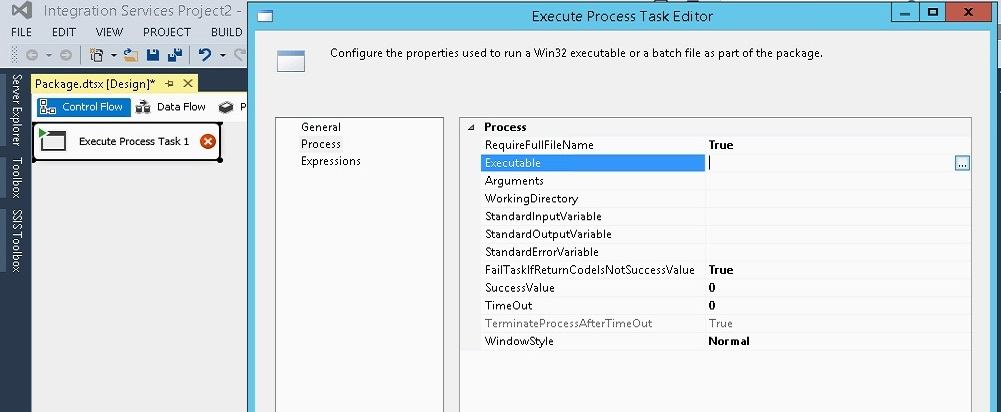 compress the files of a folder using SSIS package winrar