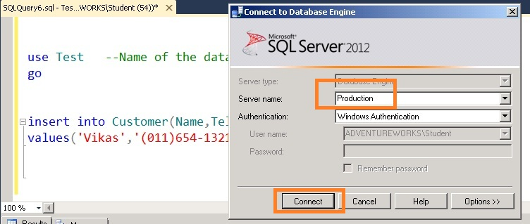 switch between different SQL Servers within a query window in SSMS 3