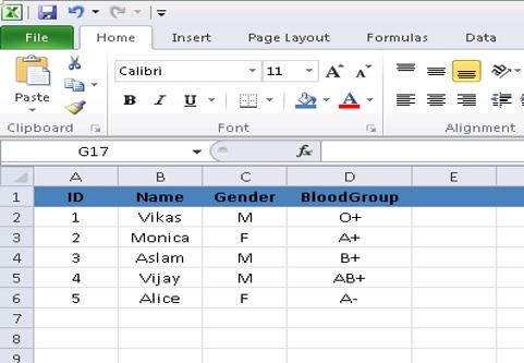 Excel-sheet