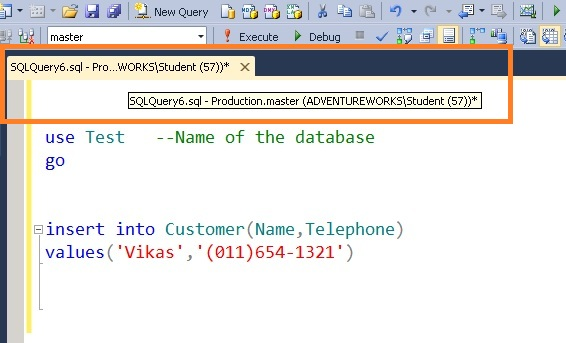 run a T-SQL command from the same window at different sql servers in SSMS 4