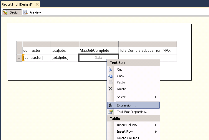 How to use multiple datasets in a single table in SSRS