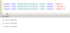 insert into identity column sql
