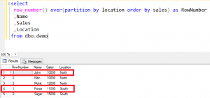 how to use row_number function in where clause in sql server